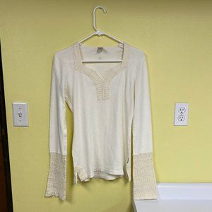 Prana Top with Crochet Detail